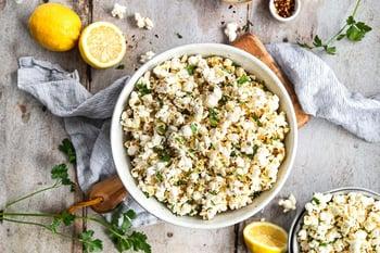 lemon parsley popcorn