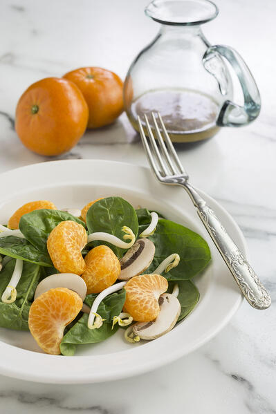 oriental spinach salad1