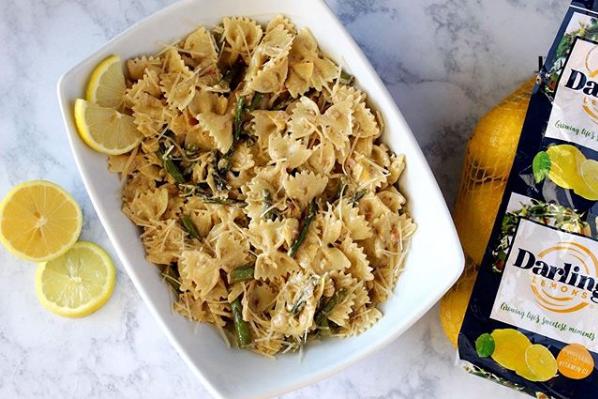 Lemon asparagus truffle pasta