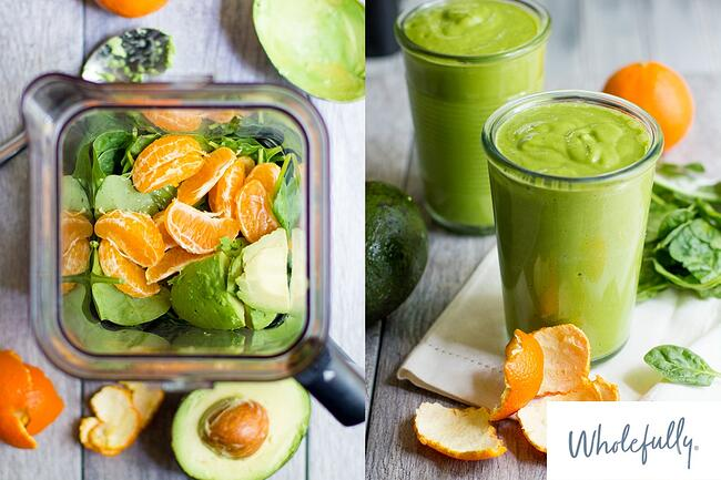 Wholefully Clementine and Avocado Smoothie