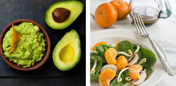 guacamole and orange salad