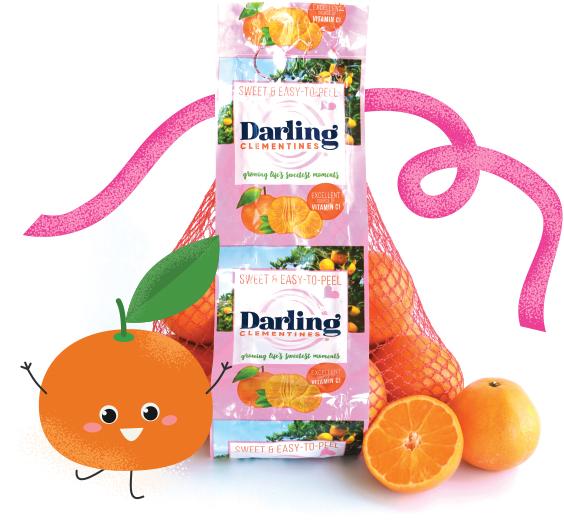 bag of Darling Clementines in pink packaging